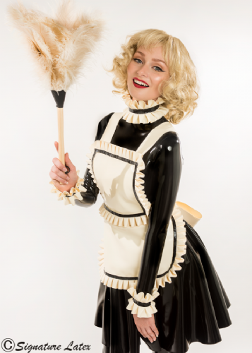 Latex Deluxe Maids Apron